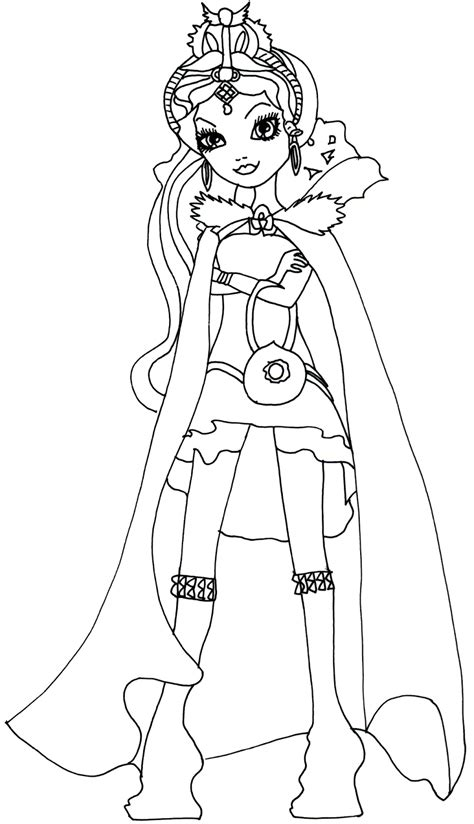 Coloring Pages Ever After High Raven Queen | free printable ever after high coloring pages raven queen