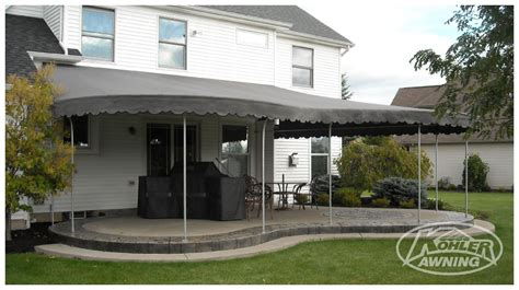 round awnings rounded fabric awnings kohler awning