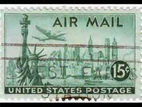 u.s air mail stamps youtube