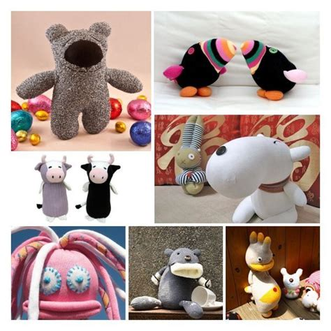 diy sock animals no sew diy sock creatures sewing and no sew projects