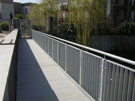 Anti Slip Flooring Pedestrian Bridge   Graepel Perforators