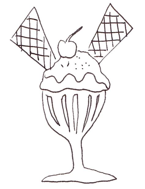 sundae coloring coloring pages
