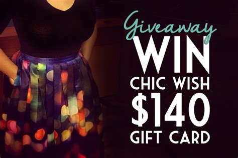How To Win On Wish Daily Giveaway - giveaway win a chic wish 140 gift card global girl travels