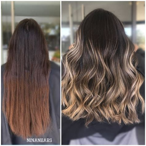 should wash hair before bayalage 17 best ideas about balayage before and after on pinterest