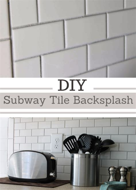 How To Install Subway Tile Kitchen Backsplash Thrifty Decor