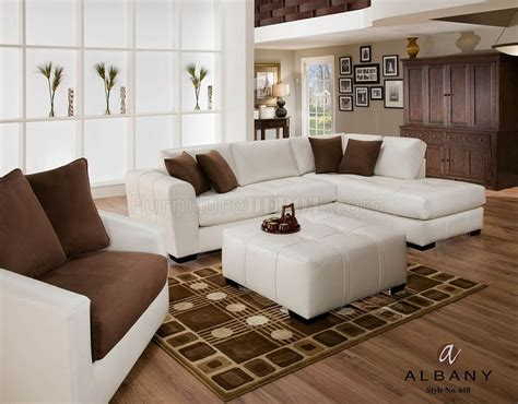 naples white leatherette modern sectional sofa w optional
