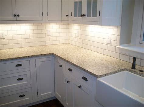 white tile kitchen backsplashes shade of white subway - Subway Tile Backsplash