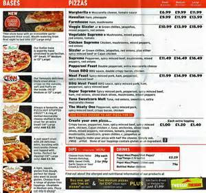 Hut Prices Pizza Hut Menu Menu For Pizza Hut Covent Garden