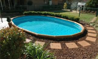 Backyard Ideas Around Pool Simple Landscaping Around Above Ground Pool Ideas