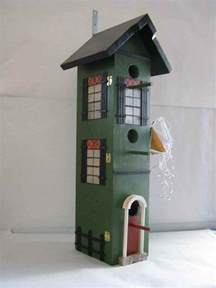 How Tall Is A 2 Story House Birdhouse Tall Green 3 Story Condo The Authentic