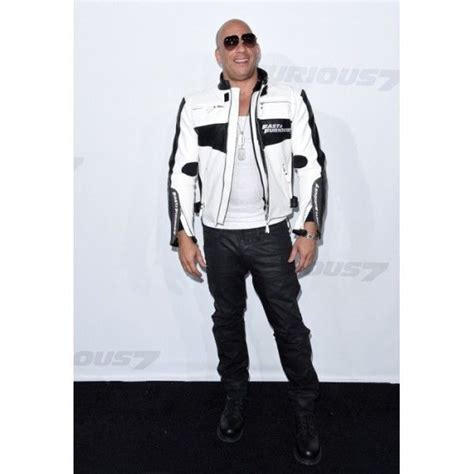 white motorbike jacket fast and furious 7 premiere vin diesel white leather