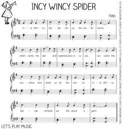 To download the free sheet music for incy wincy spider easy piano