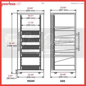 Audio Rack Dimensions Peerless 30u Av Component Rack System Black Avl