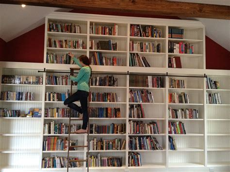 wall library build library chair ladder plans diy pdf building