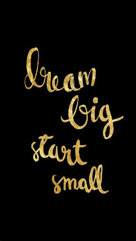 gold wallpaper quote black gold dream big iphone phone lock screen wallpaper