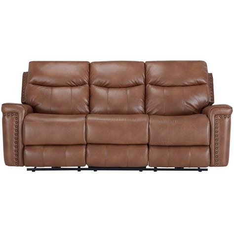 microfiber reclining sofa with console city furniture wallace medium brown microfiber power