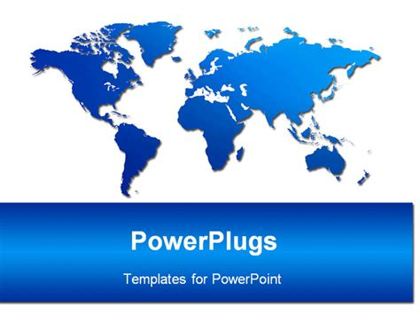 an image of world map powerpoint template background of