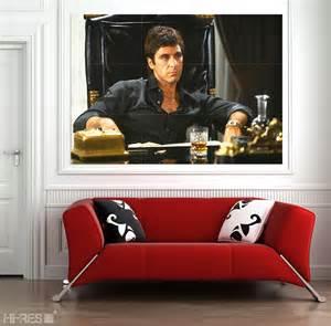 Scarface Home Decor by Scarface Movie Poster Scar01 Al Pacino As Tony Montana