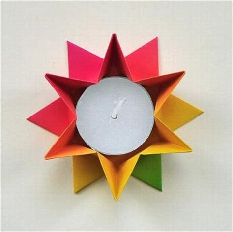 origami kerzenhalter mein origami origami galerie antje vagt