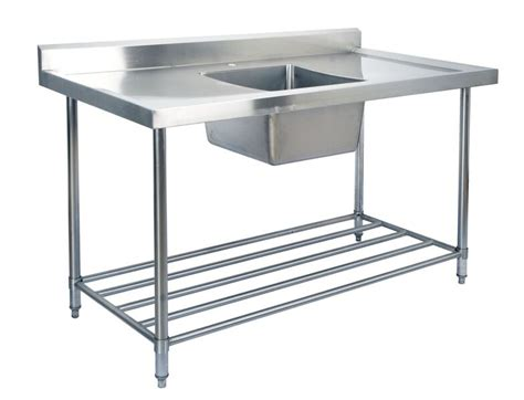 stainless steel sink bench kss stainless steel sink bench 1800mm
