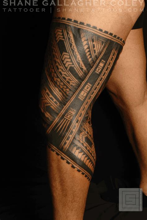 tribal thigh tattoos tribal leg band tattooshunt