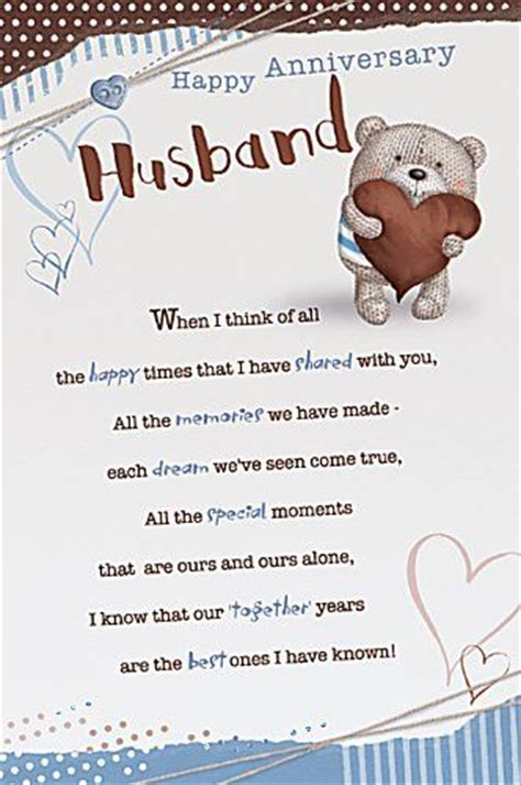 Template For Birthday Cards To From Husband by Anniversary Cards For Husband Happy Anniversary Cards And