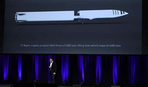 elon musk bfr elon musk unveils interplanetary transport system teases