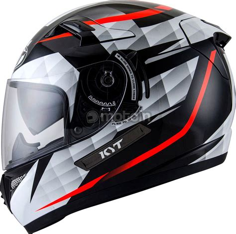 Helm Kyt Rocket White Black image gallery kyt