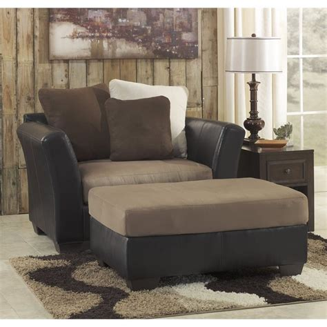ashley chair and a half with ottoman ashley masoli faux leather accent chair and a half with