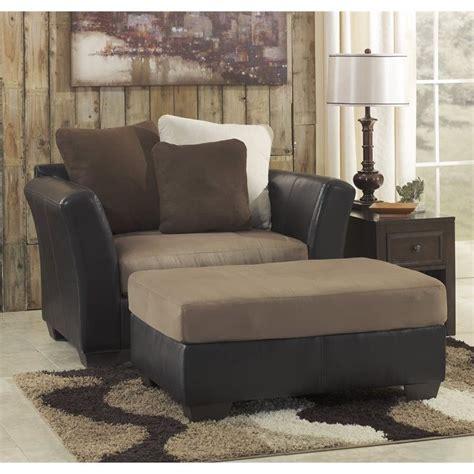 chair and a half with ottoman ashley ashley masoli faux leather accent chair and a half with
