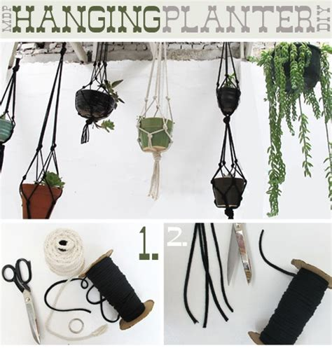 Diy Rope Hanging Planter - moredesignplease hanging planter jpg