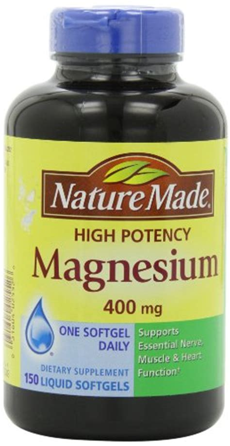 Natures Way High Strength Magnesium 600 Mg 150 Tabs nature made high potency magnesium 400 mg 150 liquid