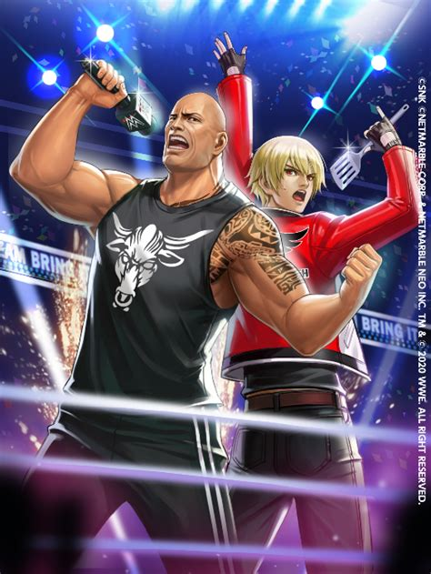 king  fighters  star  wwe official crossover art