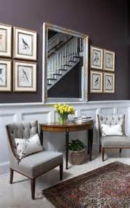 Foyer Seating Area Ideas Wainscoting And Seating Area In This Entryway