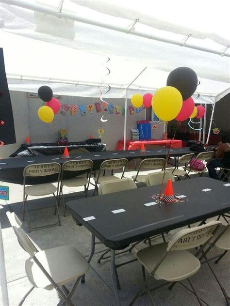 cing themed table decorations best 25 car birthday themes ideas on car