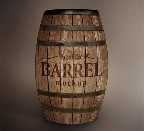 Free Wooden Barrel Mockup Free Designs Wooden Barrel Template