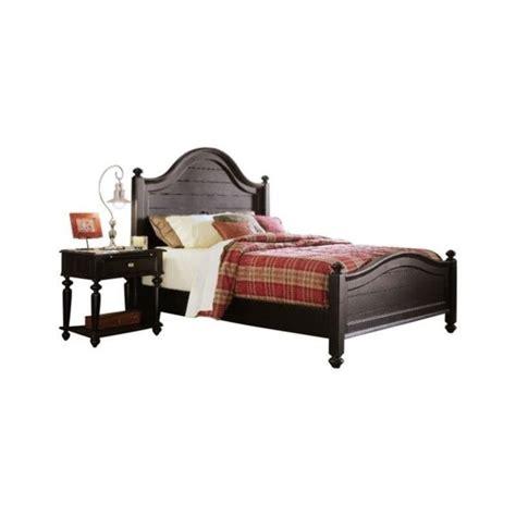 american drew camden panel bed 3 piece bedroom set in american drew camden black wood panel bed 3 piece bedroom