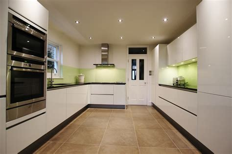 Galley Kitchen Designs With Island by White Lacquer Kitchens From Lwk Kitchens