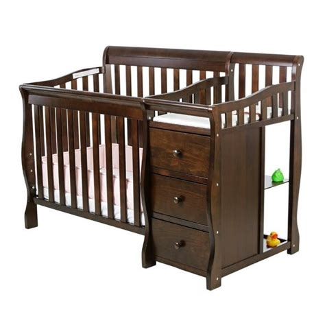 Dream On Me Jayden 4 In 1 Mini Convertible Crib And Espresso Mini Crib