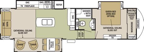 cedar creek 5th wheel floor plans 2016 forest river cedar creek silverback 33ik cing