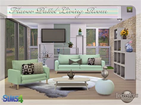 sims 4 wohnzimmer jomsimscreations new living room sims 4 flavor
