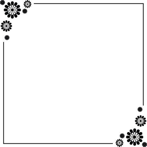 12 Simple Border Design Paper Images   Flower Border
