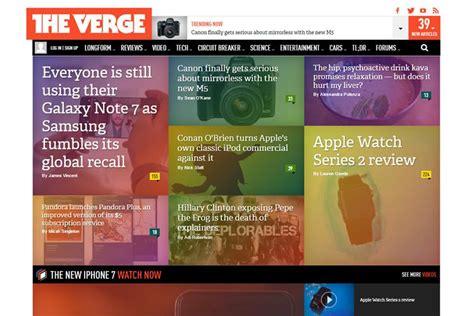 magazine layout on the web 10 beautiful modern magazine web layouts