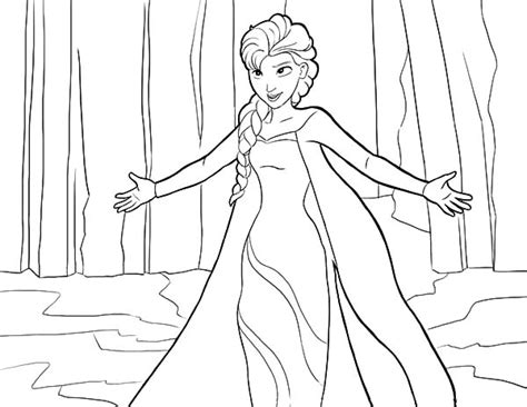 queen elsa and princess anna coloring pages free coloring pages