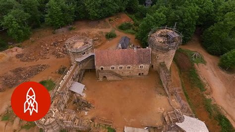 building  medieval castle  modern times youtube