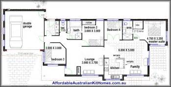 four bedroom house floor plans 4 bedroom house plans kit homes australian kit homes