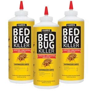 harris 8 oz diatomaceous earth bed bug killer 3 pack