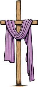 cross with purple drape holy week