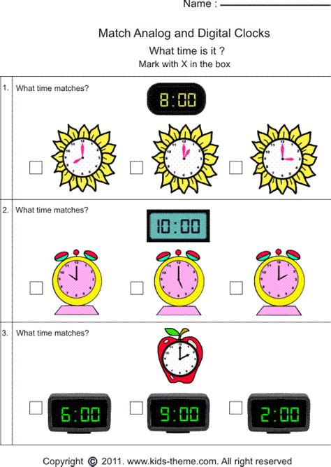 printable clock matching game all worksheets 187 analogue and digital worksheets
