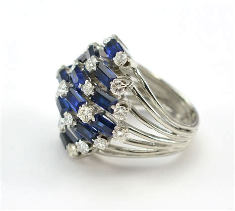 martini sapphire 14k white gold 12 grams sapphire and cocktail ring